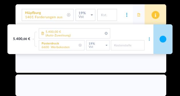 Automatisierte Buchhaltung mit automatischen Buchungsvorschlägen