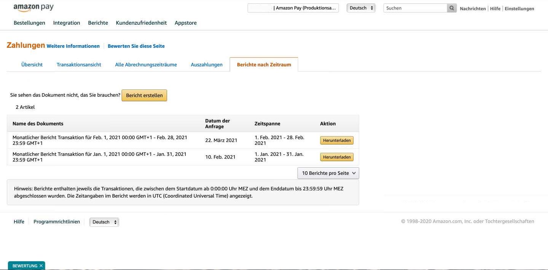 Amazon Pay Transaktionen in BuchhaltungsButler importieren