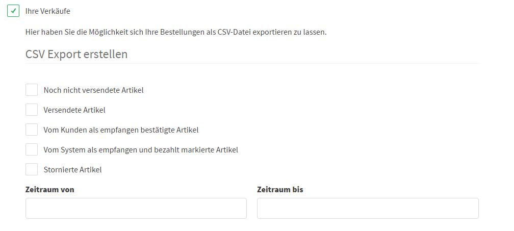 CSV Export Kaufland.de