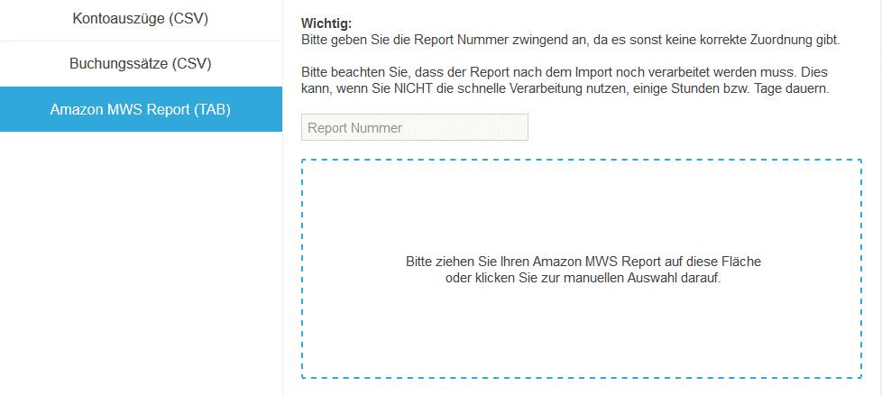 Amazon: Importieren Sie den Settlement-Report