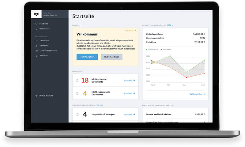 Steuerberater-Software zur Mandantenzusammenarbeit