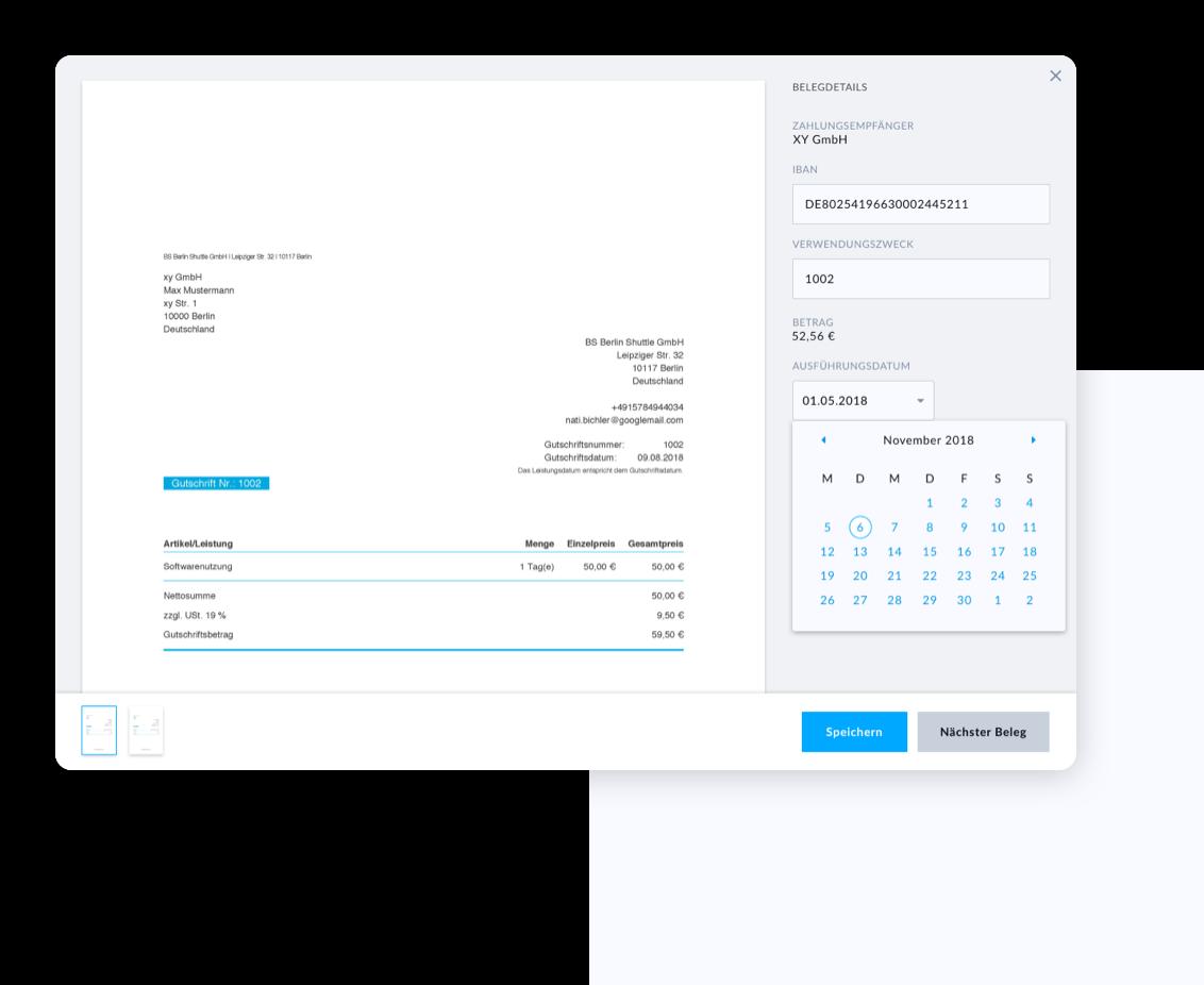 Integriertes Rechnungsprogramm