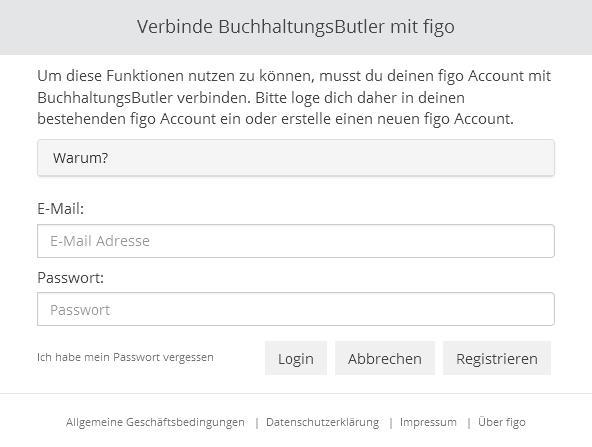 Online Banking in BuchhaltungsButler