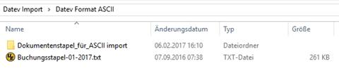 Auswahl des Ordners in Datev für einen automatischen Ablauf