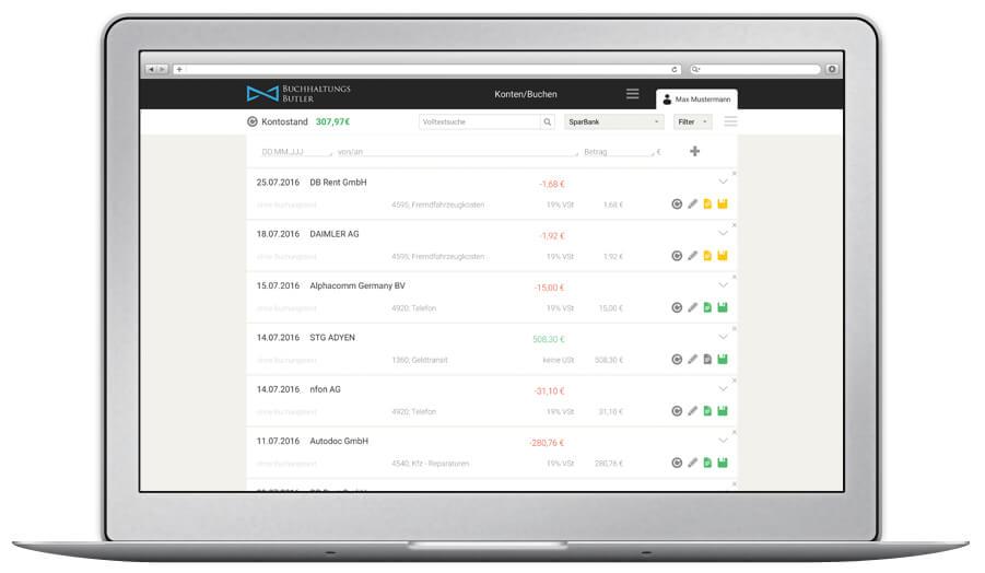 Buchhaltung für Holvi Kunden mit der Buchhaltungssoftware von BuchhaltungsButler